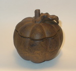 candle holder pumpkin shaped cast iron vintage